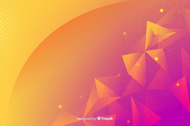 幾何学的図形の背景概念 無料ベクター