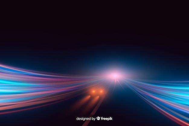 ライトトレイル高速背景 無料ベクター