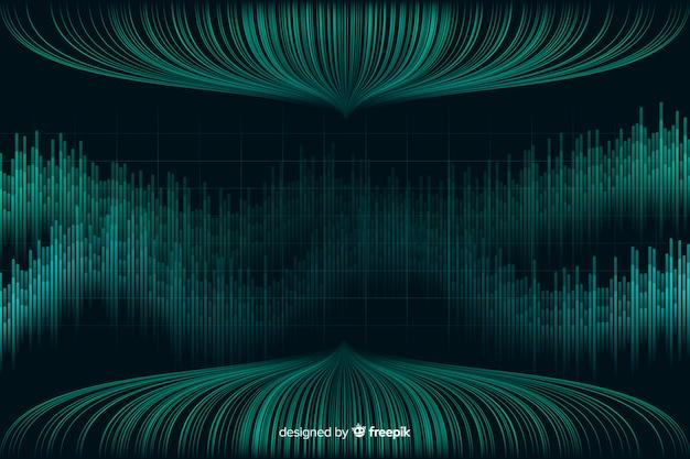 大きなデータ概念の抽象的な背景 無料ベクター