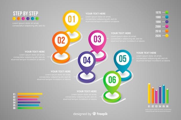 Бизнес график инфографики Бесплатные векторы