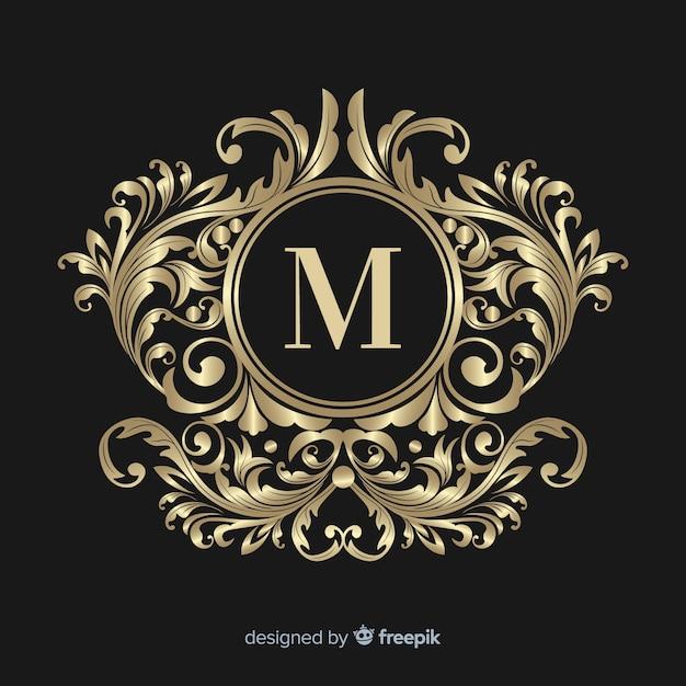 Декоративный элегантный логотип Бесплатные векторы