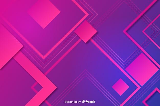 幾何学的図形の抽象的な背景 無料ベクター