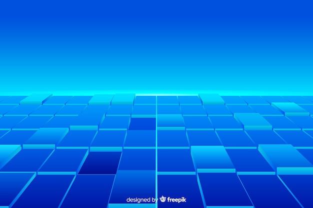 Реалистичные кубики пола фон Бесплатные векторы