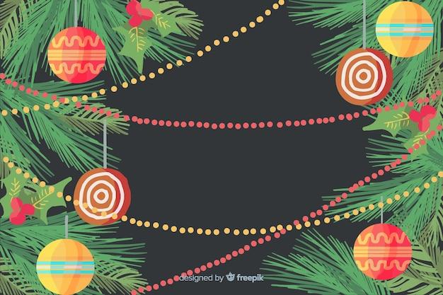 Акварельные рождественские украшения Бесплатные векторы
