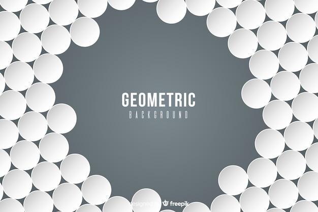 紙のスタイルの幾何学的図形 無料ベクター