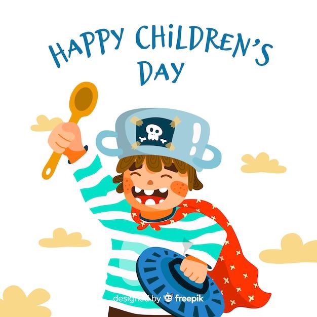 Детский день событий плоский дизайн Бесплатные векторы