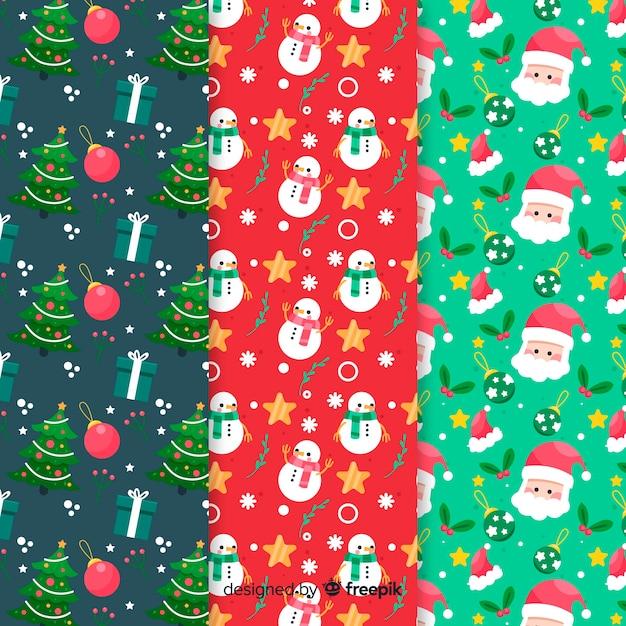 Плоская рождественская коллекция Бесплатные векторы