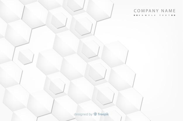 紙のスタイルの幾何学的図形の背景 無料ベクター