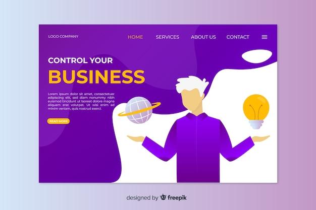 Концепция шаблона для бизнес-целевой страницы Бесплатные векторы