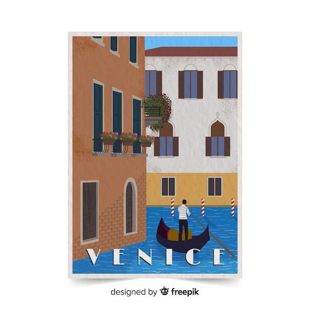 Рекламный флаер венеции Бесплатные векторы
