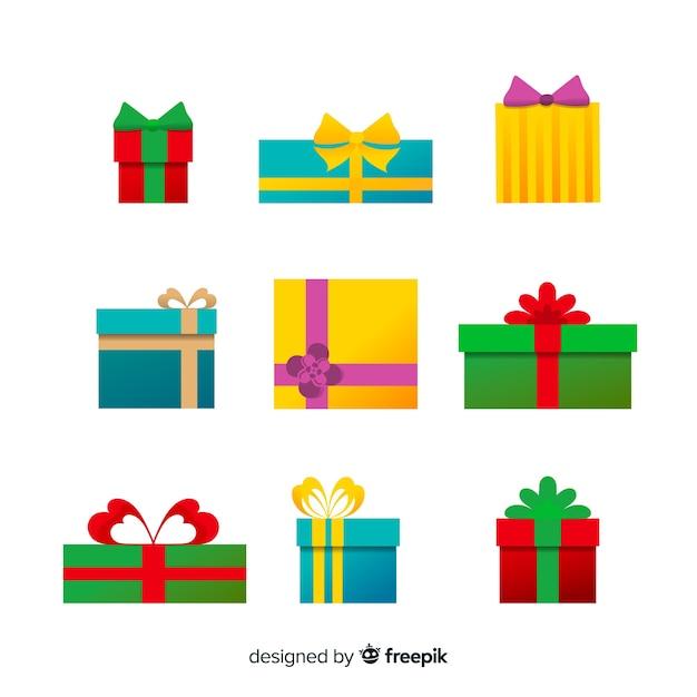 Ручной обращается коллекция рождественских подарков Бесплатные векторы