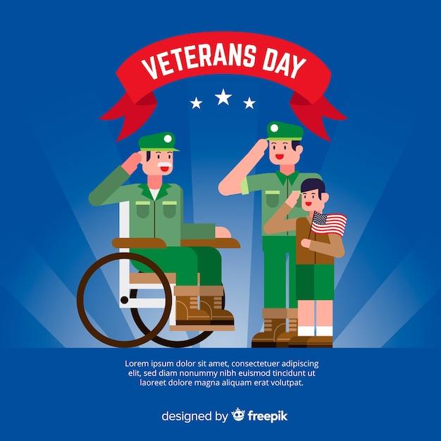 兵士の世代とフラット退役軍人の日 無料ベクター