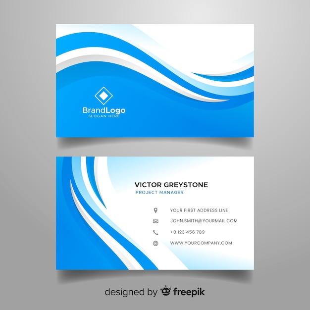 Шаблон визитки в абстрактном стиле Бесплатные векторы
