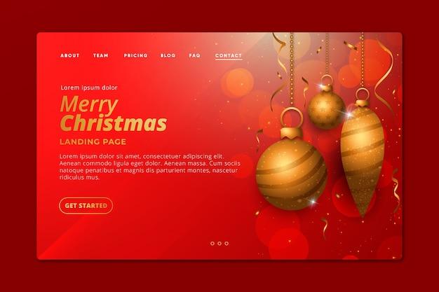 Плоская рождественская посадочная страница Бесплатные векторы