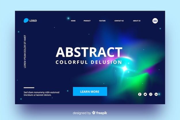 Красочная иллюзия абстрактной целевой страницы Бесплатные векторы