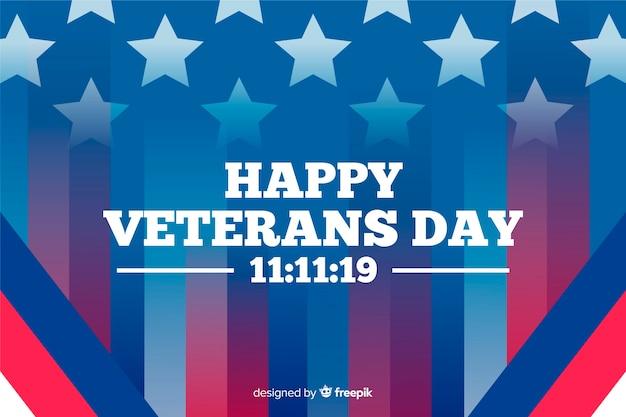 Градиент американского флага и счастливый день ветеранов Бесплатные векторы