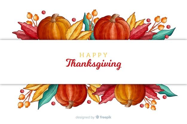 День благодарения фон в акварели Бесплатные векторы