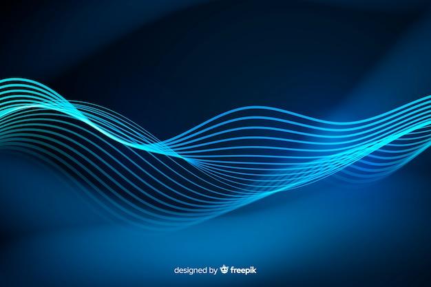 Фон абстрактные неоновые линии Бесплатные векторы