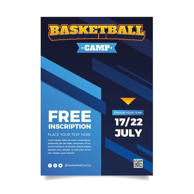 Баскетбольный шаблон спортивного флаера Бесплатные векторы