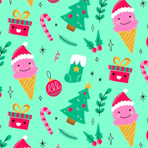 Веселые рождественские фон Бесплатные векторы