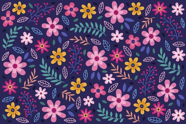 デイジーの花のシームレスな背景 無料ベクター