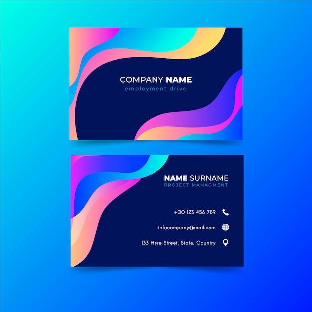 Визитная карточка абстрактный красочный шаблон Бесплатные векторы
