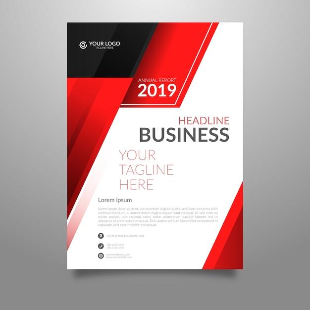 Абстрактный бизнес флаер шаблон Бесплатные векторы