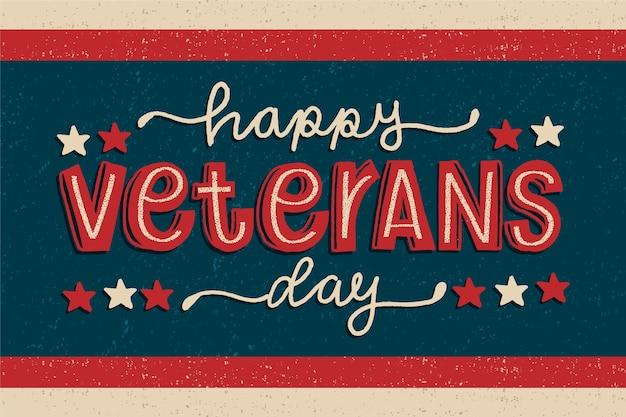 Старинные надписи день ветеранов обои Бесплатные векторы