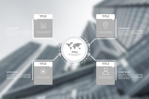 Бизнес инфографики шаблон с фото Бесплатные векторы