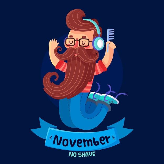 Ноябрьская концепция в плоском дизайне Бесплатные векторы