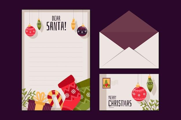 Плоский дизайн рождественские бланки шаблон Бесплатные векторы