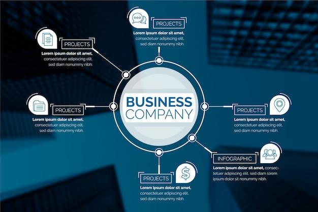 Бизнес инфографики с изображением Бесплатные векторы