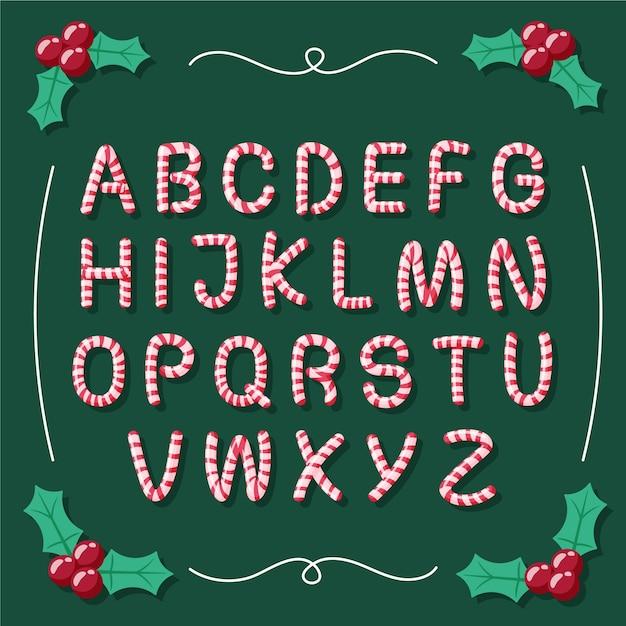 Иллюстрация рождества тростника конфеты Бесплатные векторы