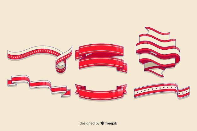 Набор рисованной рождественской ленты Бесплатные векторы