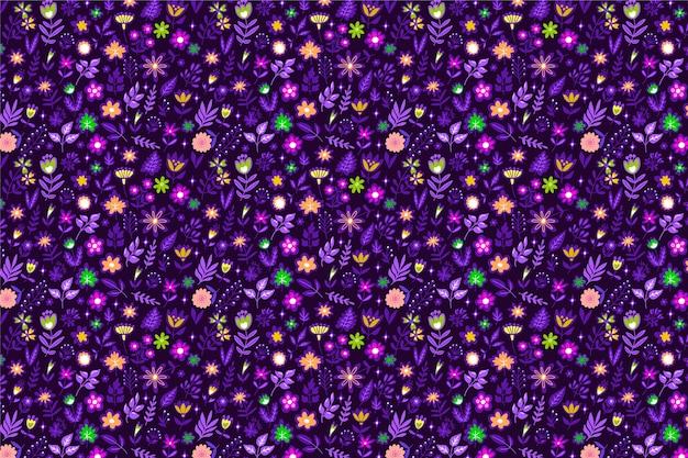 Симпатичный цветочный узор с маленькими цветами Бесплатные векторы