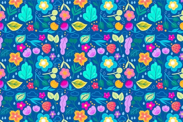 Модный узор в дицах маленьких цветов Бесплатные векторы