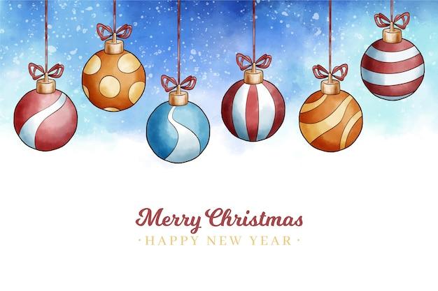 Рождественская концепция в акварели Бесплатные векторы
