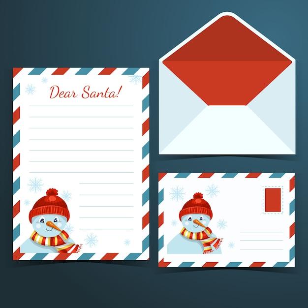 Ручной обращается рождественские канцелярские шаблон Бесплатные векторы