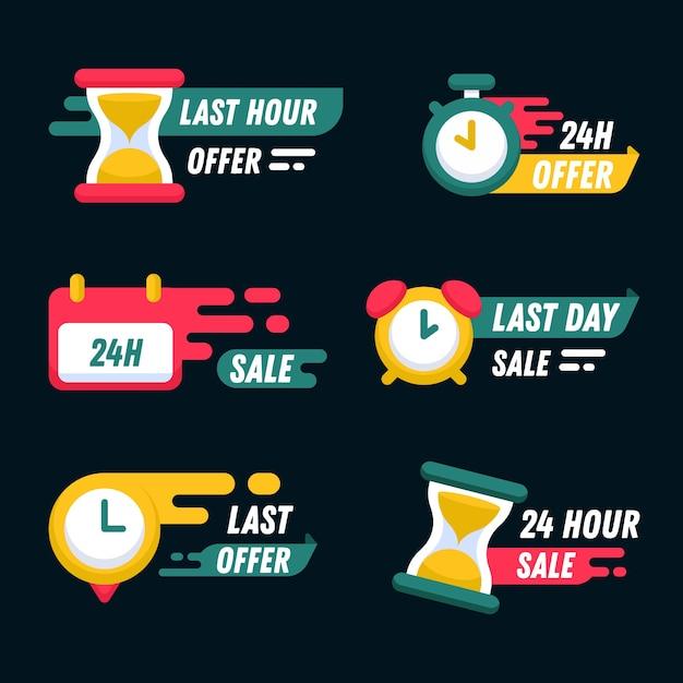Коллекция баннеров обратного отсчета продаж Бесплатные векторы
