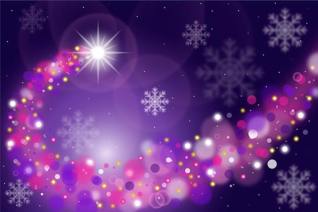 輝く背景とクリスマスコンセプト 無料ベクター