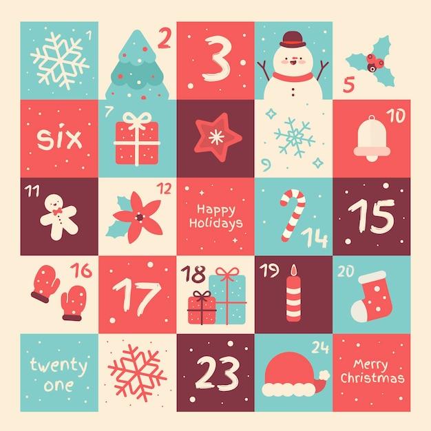 Красочный календарь появления в плоском дизайне Бесплатные векторы