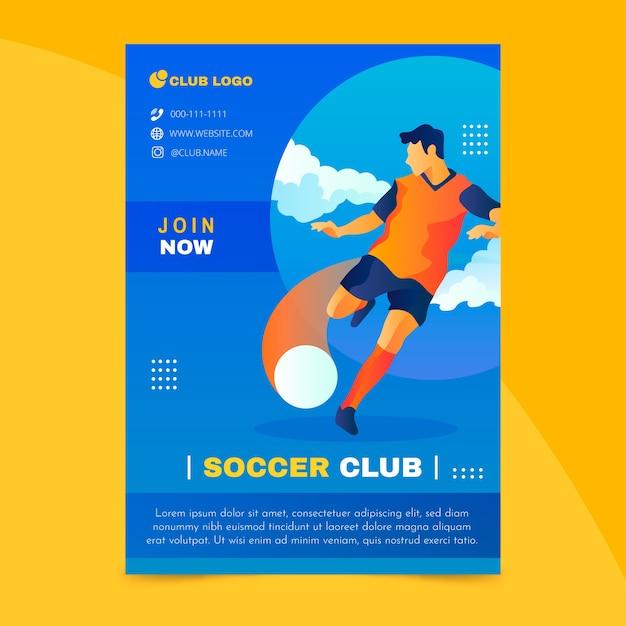 Красочный спортивный флаер шаблон Бесплатные векторы