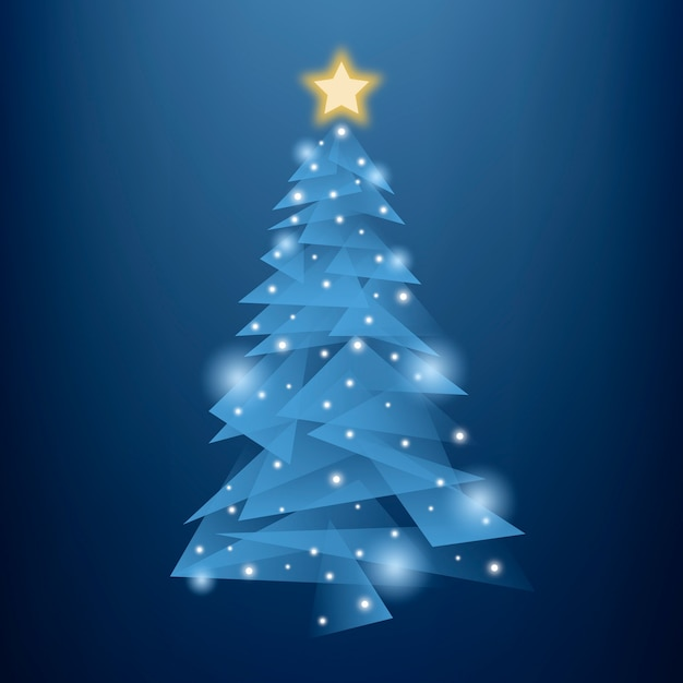 Абстрактная рождественская елка Бесплатные векторы