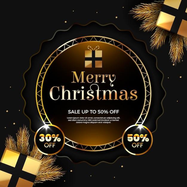 Счастливого рождества со скидкой в пятьдесят процентов Бесплатные векторы