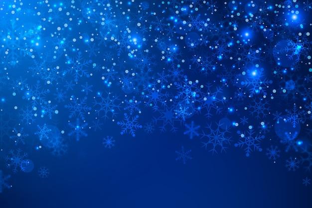 輝く背景のクリスマスコンセプト 無料ベクター