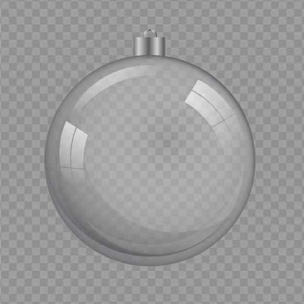 クリスタルクリスマスボールイラスト透明 無料ベクター