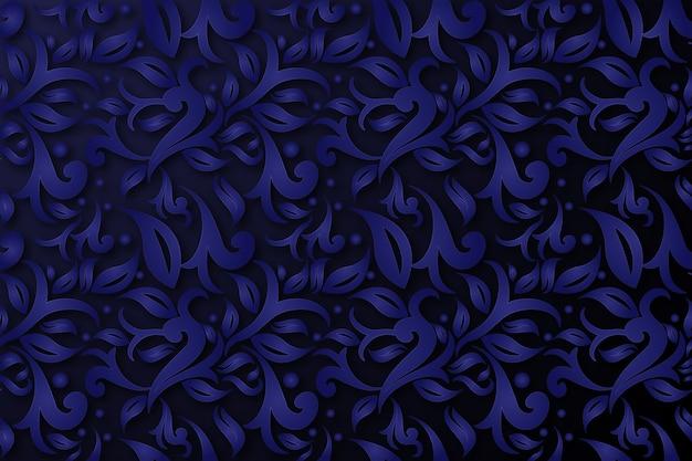 Абстрактные декоративные цветы синий фон Бесплатные векторы