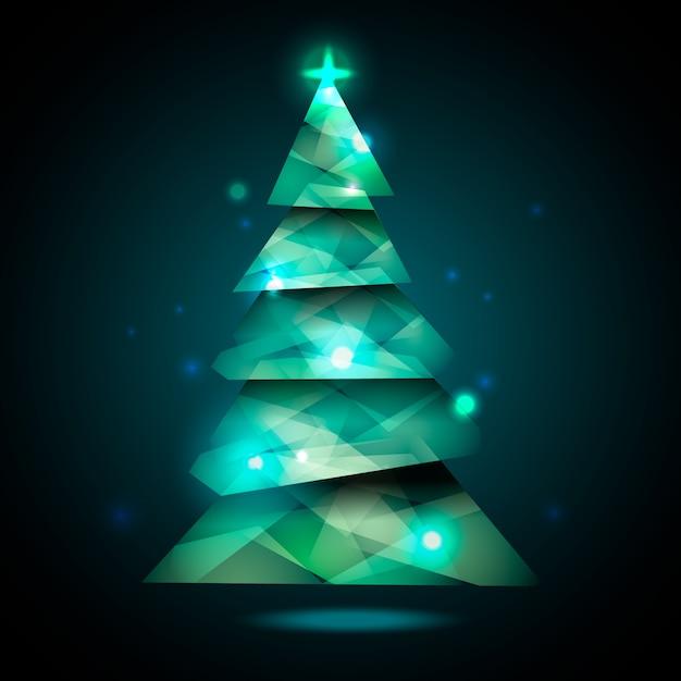 抽象的なデザインのクリスマスツリーの概念 無料ベクター