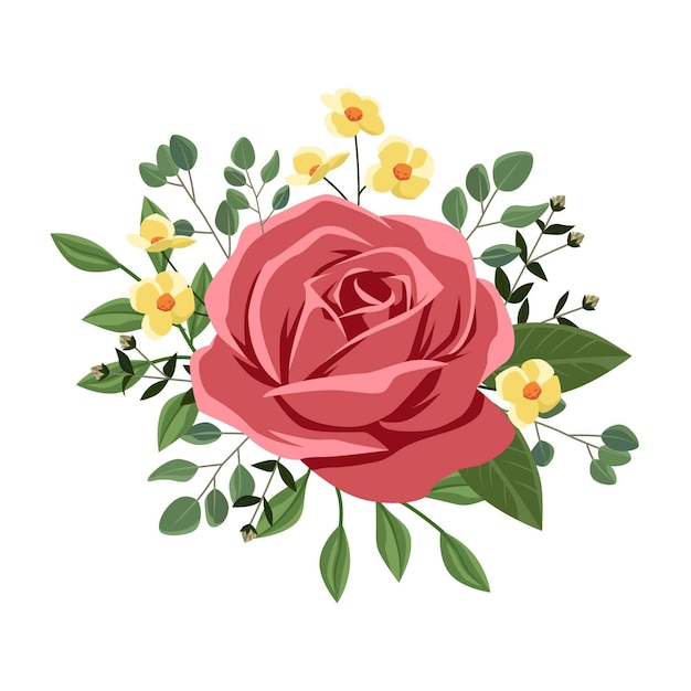 Красивый винтажный цветочный букет Бесплатные векторы