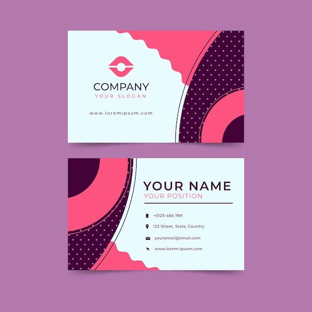 Шаблон креативной визитки Бесплатные векторы